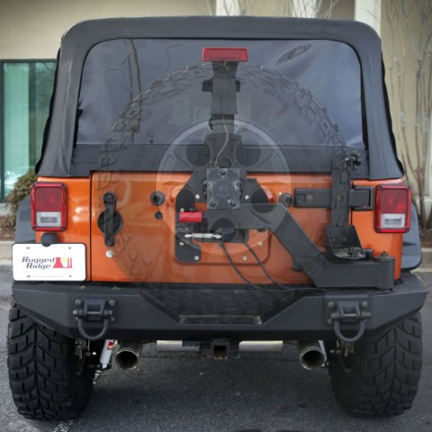 Rugged Ridge XHD Tire Carrier transparent 480x480 Rugged Ridge Announces New Tire Carrier System for Jeep JK Wrangler