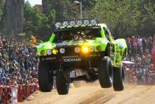 Cam Steele racing to third place in the 2014 Baja 1000