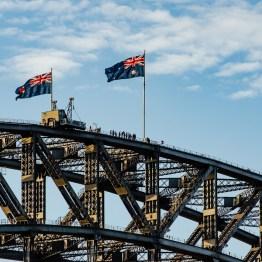 Bridge climbing on Harbour bridge