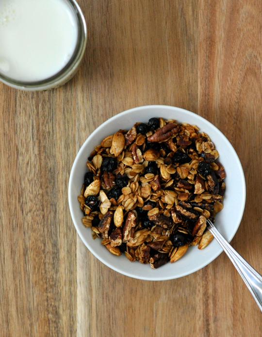 Homemade Blueberry Flax Granola