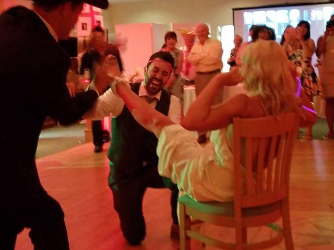 wedding, evian facial spray, stripxpertease