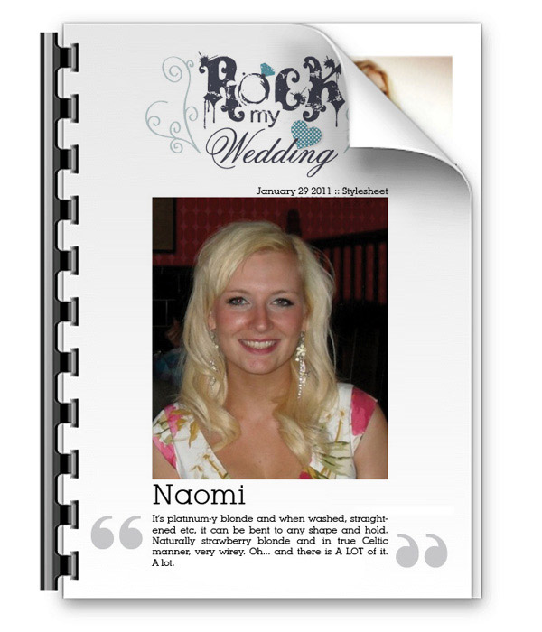 naomi stylesheet Rock Your Real Style... Naomi, The Modern Glamour Bride: Part 1