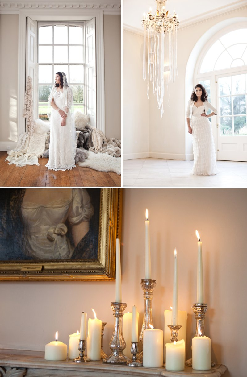 A Winter Romance Themed Bridal Inspiration Shoot At Iscoyd Park With Dresses From Charlie Brear And Accessories By DC Bouquets Images By Jo Hastings Photography 11 Winter Romance.