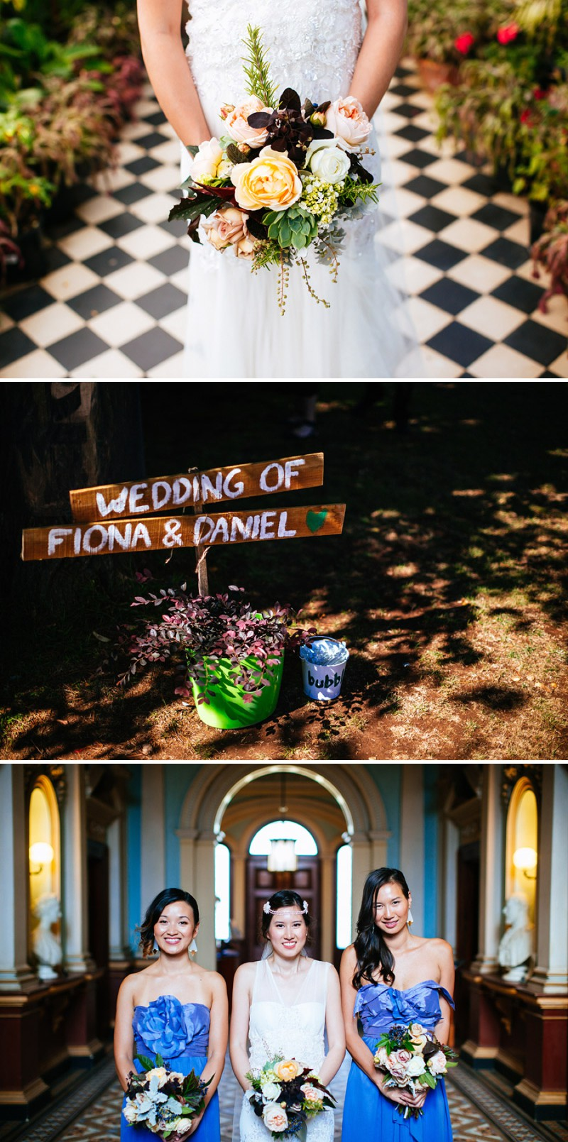 Ultra Hip And Modern Outdoor Destination Wedding In Australia With An Anna Campbell Bridal Gown And An Autumnal Bouquet With Electric Blue Bridesmaid Dresses Photographed By Lakshal Perera. 0001 Falling Slowly.
