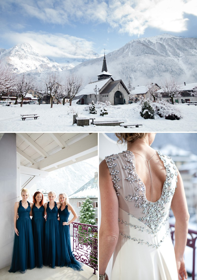 A Snowy Winter Wedding With A Jenny Packham Muscari Dress And Navy Bridesmaid Dresses And A White Rose Bouquet In Chamonix France Photographed By Helen Cawte. 0001 Love And Laughter In Chamonix.