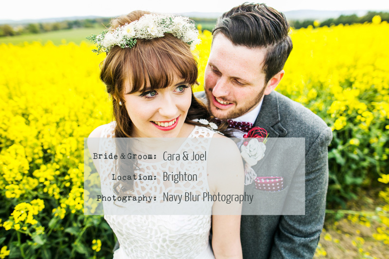 A Bohemian bride with tweed suited groom. A Brighton ceremony and reception with handmade pizza and ice cream. Wedding dress by Debenhams and photography by Navy Blur Brighton Breezy.