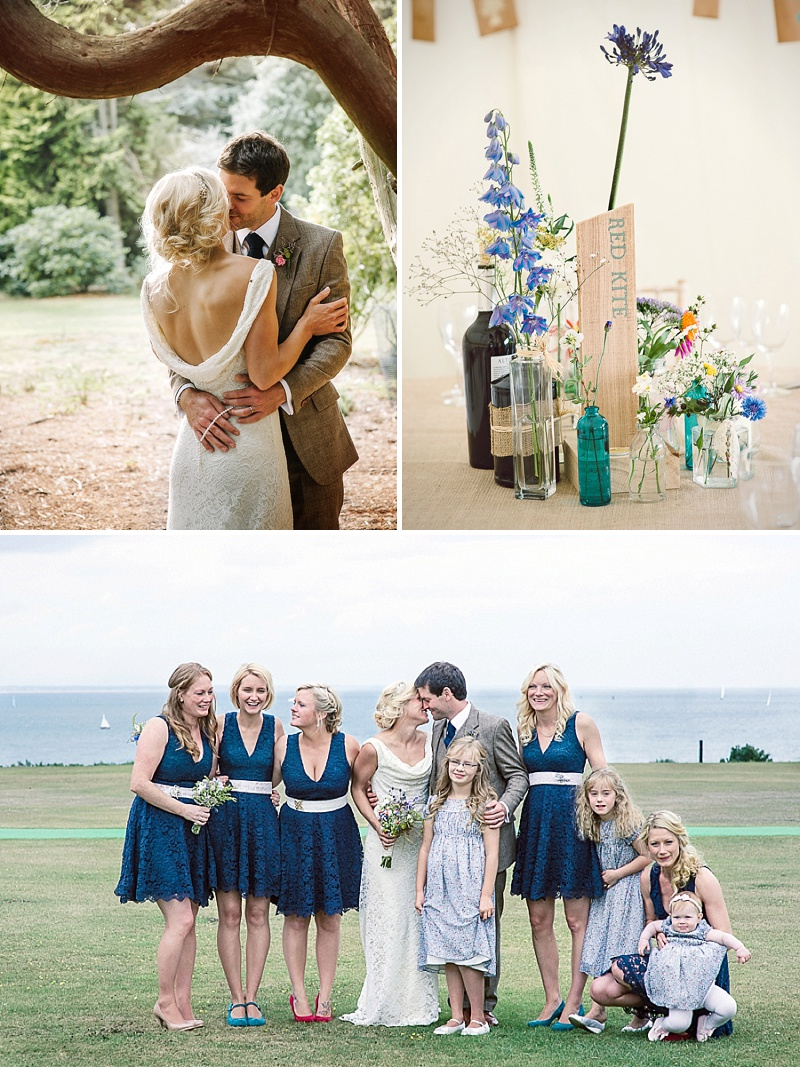 Rustic Wedding At Studland Bay House In Dorset With Bride In Charlie Brear With Hermione Harbutt Accessories And Groom In Victor Valentine Suit With Bridesmaids In French Connection 1 The Great Outdoors.