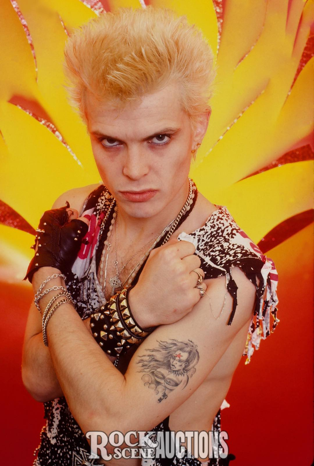 Billy Idol 1984   Rock Scene Auctions Billy Idol 1984