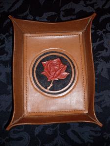 Rose-themed valet tray