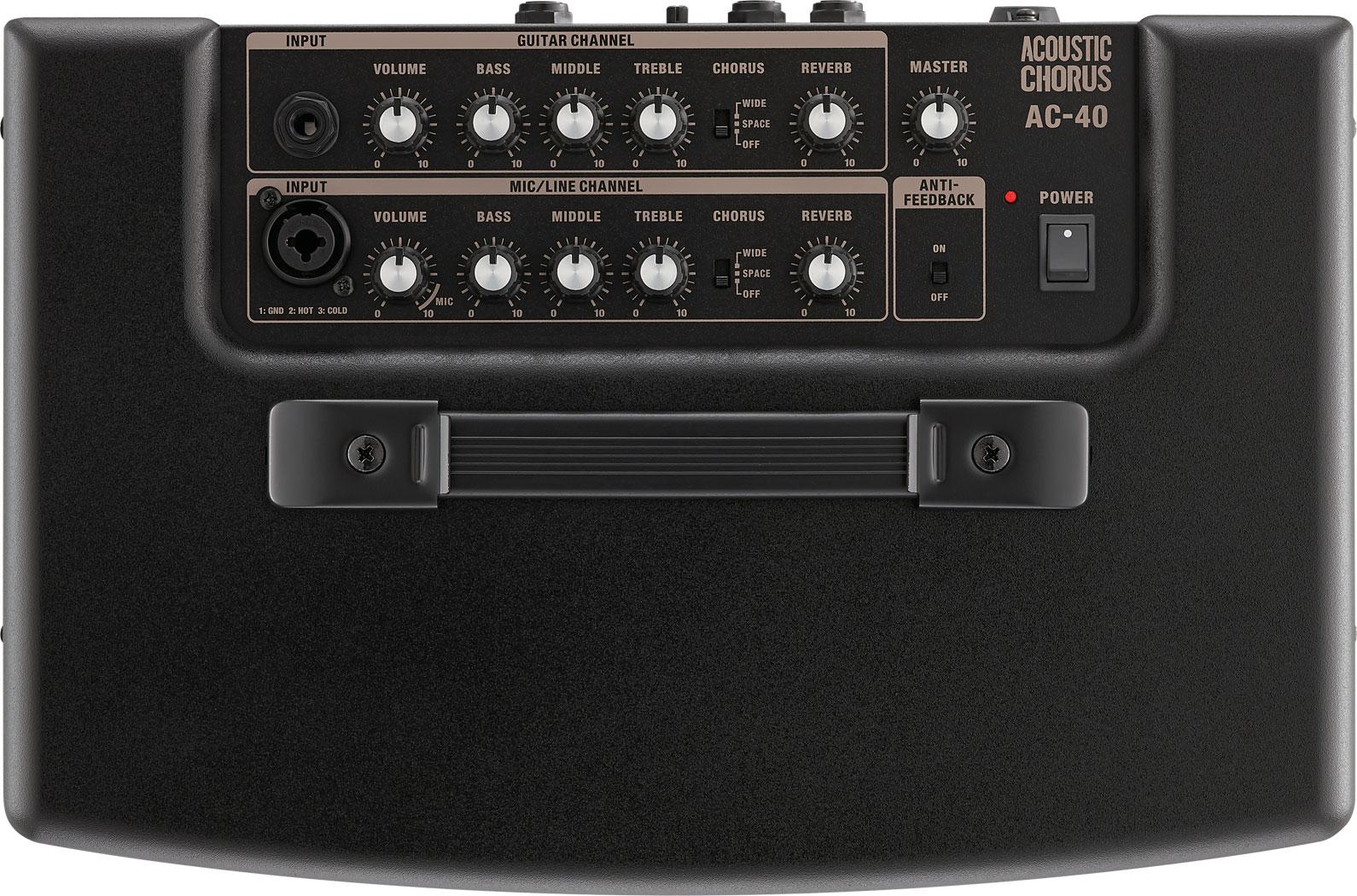 Roland AC-40 Top Panel