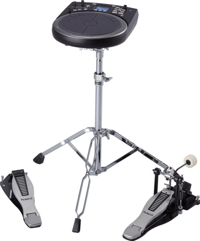 HandSonic HPD-20 hand percussion unit on a stand