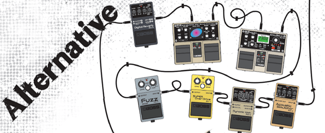 alternative rock guitar effects pedal chain