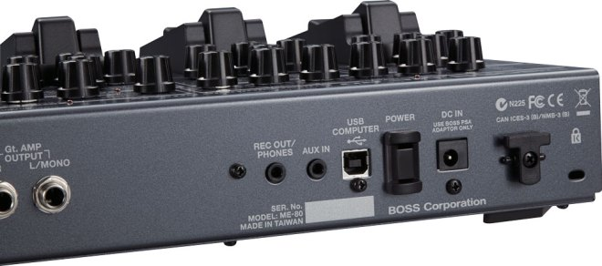 BOSS ME-80 Guitar Multiple Effects Rear Panel