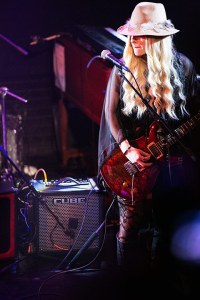 Orianthi on stage with the CUBE amp