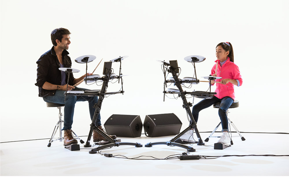 Kaz Rodriguez and Kanade Sato in the TD-1KV V-Drums Video