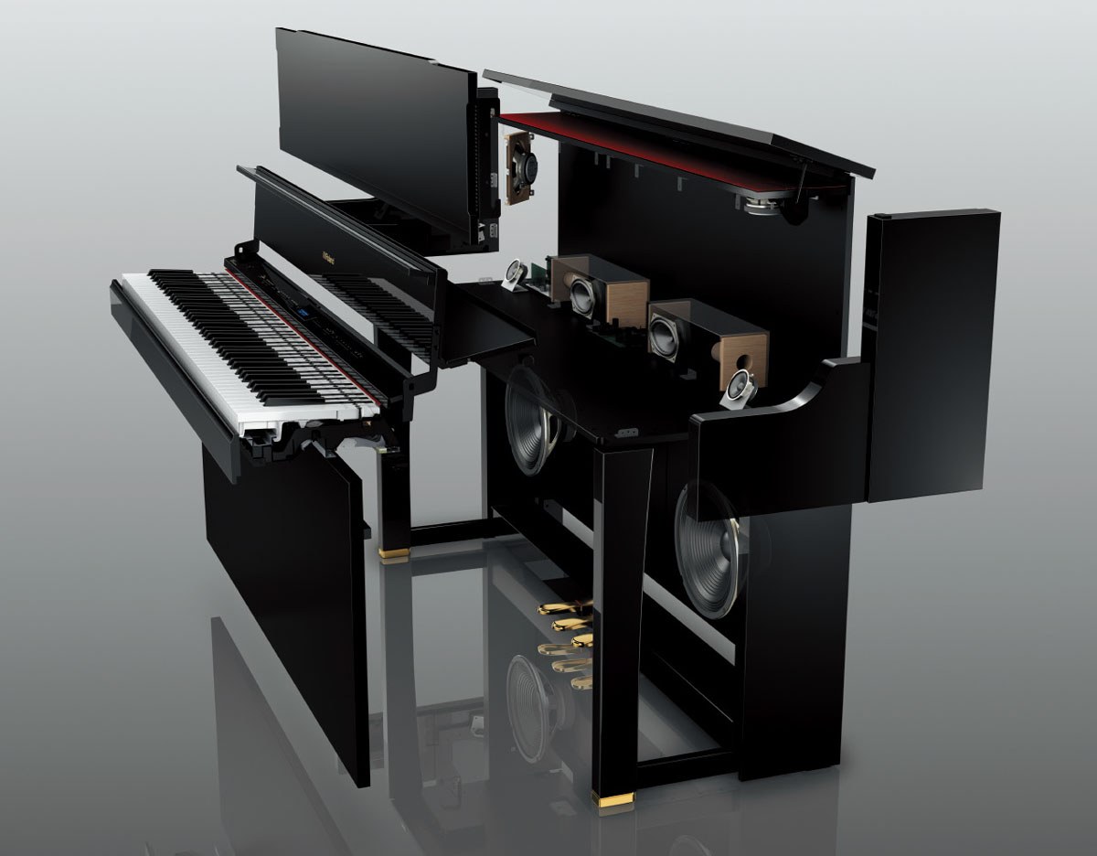 Premium additions to roland s home piano lineup roland u for Piano placement in home