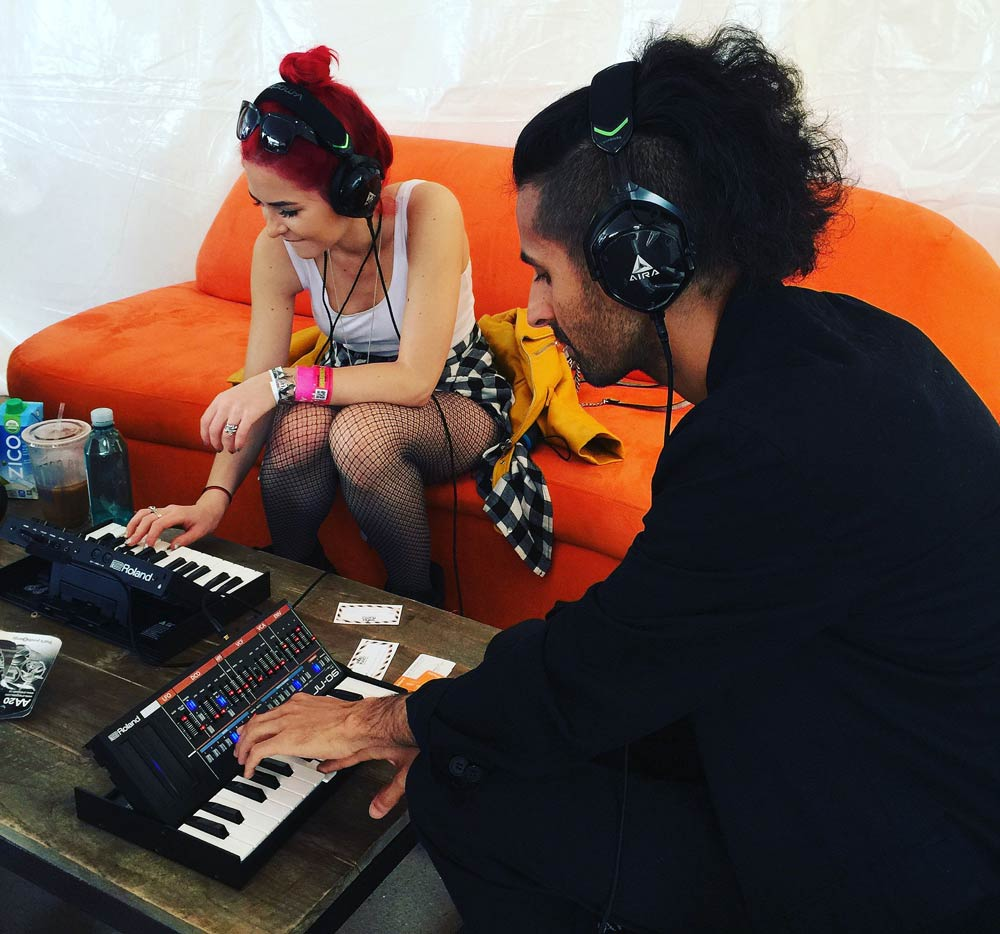 Visiting artists at Southwest Invasion explore the Roland Boutique synths