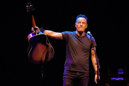 NEW YORK, NY - OCTOBER 12: Bruce Springsteen performs onstage during 'Springsteen On Broadway' at Walter Kerr Theatre on October 12, 2017 in New York City. (Photo by Kevin Mazur/Getty Images)