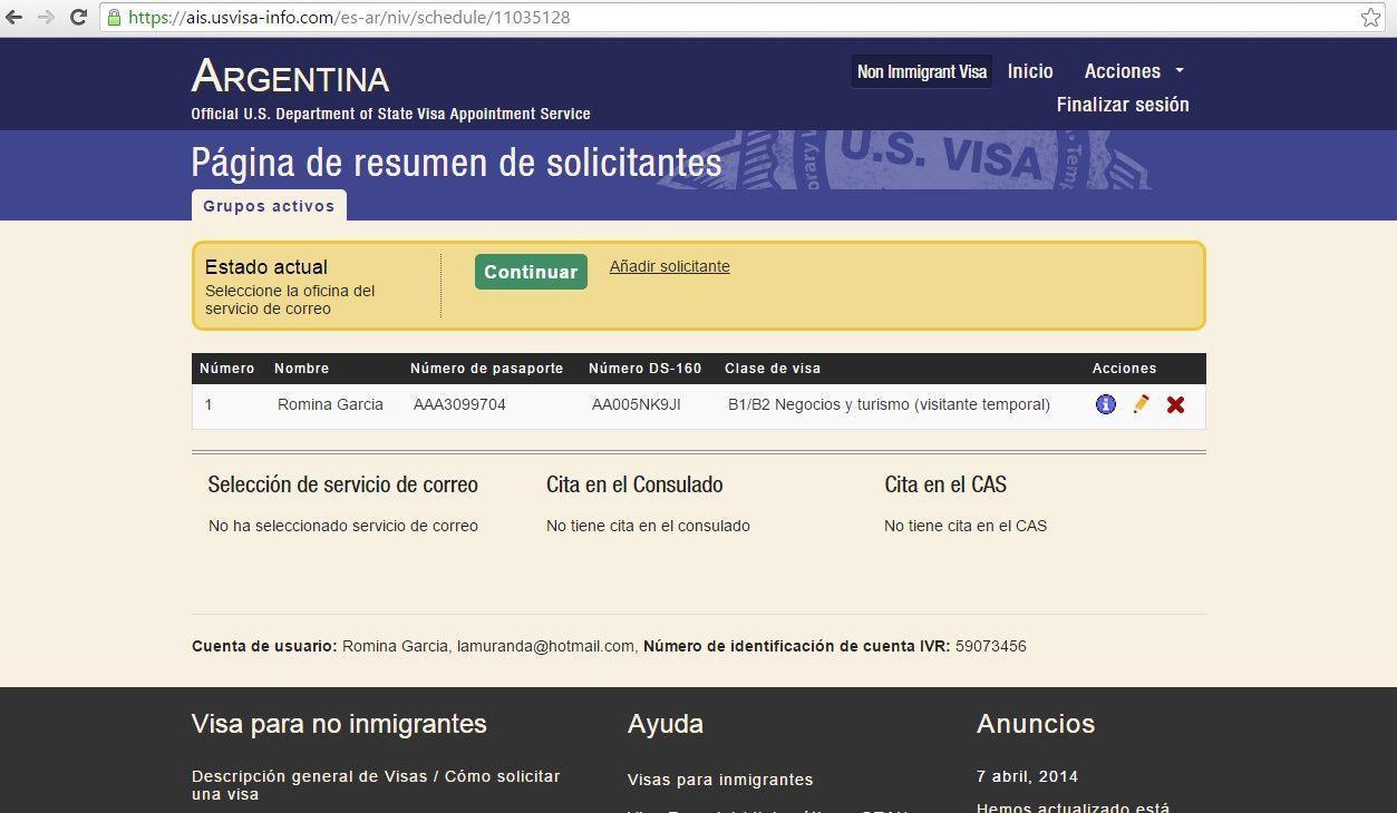 C mo tramitar la visa de estados unidos paso por paso for Paginas de chimentos de argentina
