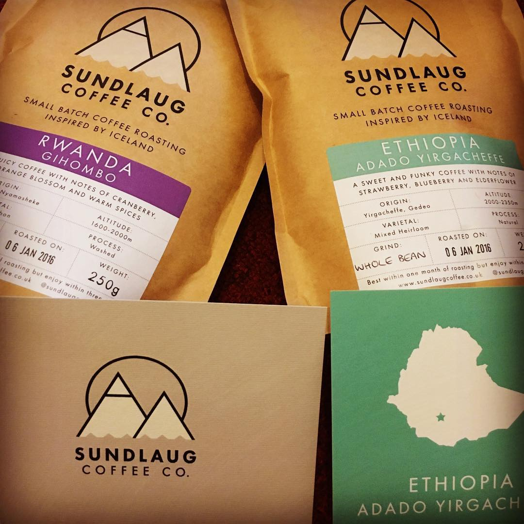 More coffee for our #thirdwavewichteln - thank you so much, Matt from @sundlaugcoffee #uk #roaster - we all will be looking forward to cup and drink your roasts and give feedback! Looks great! I will grab something for you today! Sorry for the delay! #coffeelove #coffee #exchange #privat