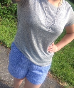 Soft Tee Stitch Fix Blue Shorts