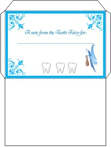 A printable Tooth Fairy letter envelope