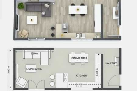 roomsketcher kitchen design idea 2d 3d floor plans kitchen layout