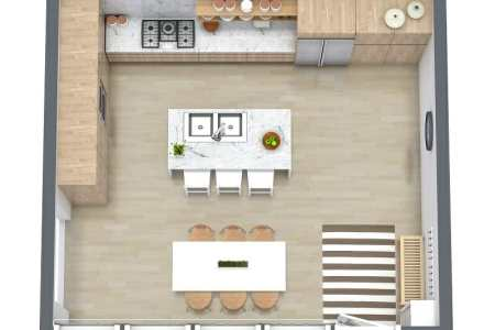 roomsketcher kitchen layout ideas 3d floor plan