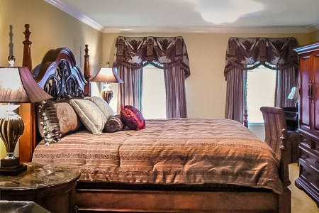master bedroom suite and a woman's office   atlanta