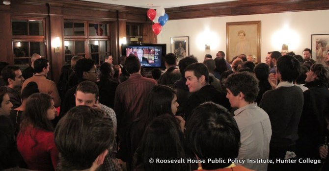Students on Election Night