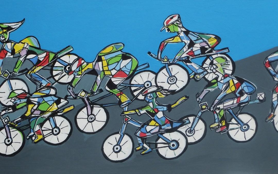 """Ein neues Acrylbild: """"Die Radfahrer"""""""
