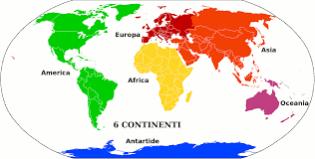 Rosea de continentes del mundo