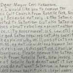 Anonymous Letter Warns Of Satanic Church