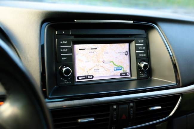 car dashboard GPS