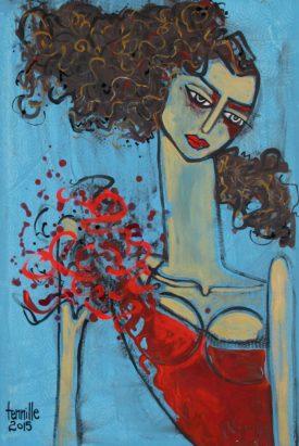 Red Dress 19x29
