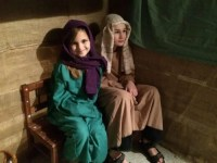 My kids in character at Night in Bethlehem.