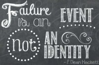 Failure Is Not Your Identity – Free Inspirational Wall Art