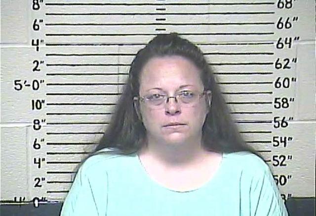 Kim Davis, foto din momentul arestarii