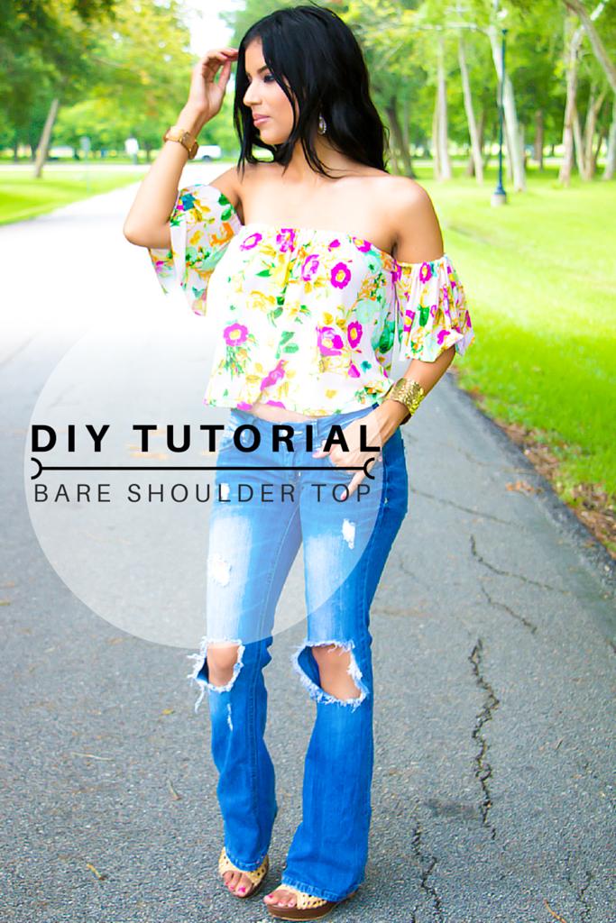 DIY Bare Shoulder Top TUTORIAL!