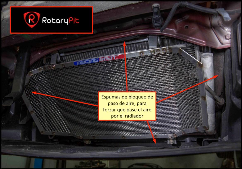 Canalización aire refrigeración RX8 RotaryPit jird20