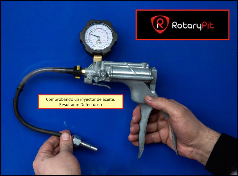 Comprobando inyector aceite reconstrucción Renesis rebuild RX8 RX7 jird20 RotaryPit