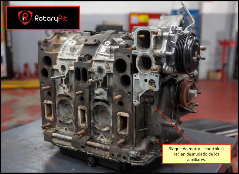 Reconstrucción rebuild motor Renesis bloque motor shortbock RX8 RX7 jird20 RotaryPit