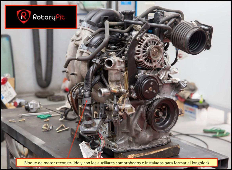 Reconstrucción rebuild motor Renesis longblock completado RX8 RX7 jird20 RotaryPit