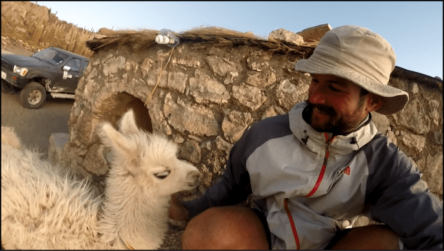 Photo of me with llama