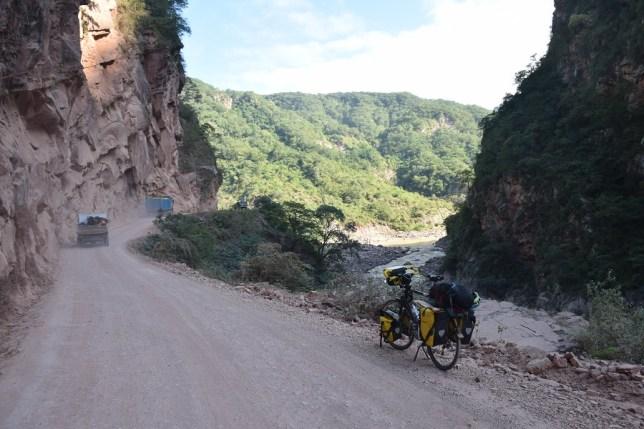 Winding valley road