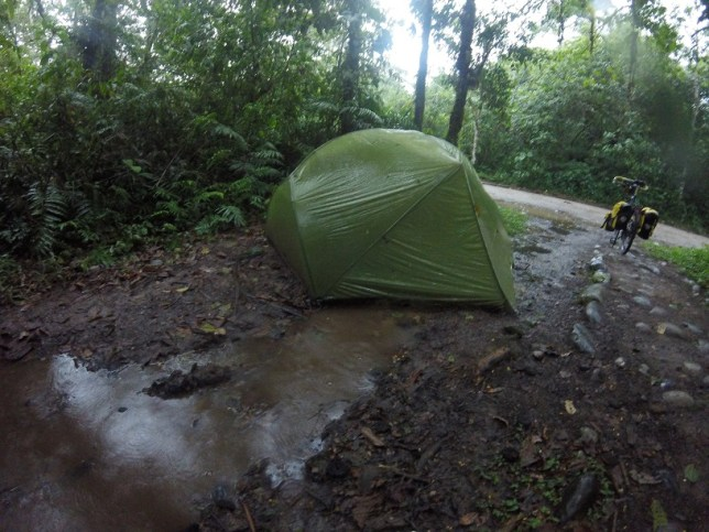 flooded tent