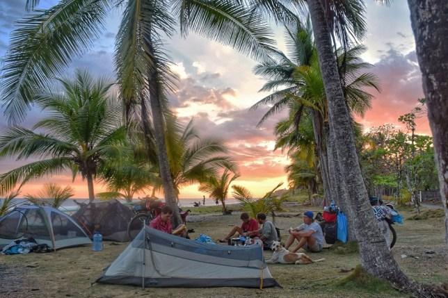 sunset camp costa rica