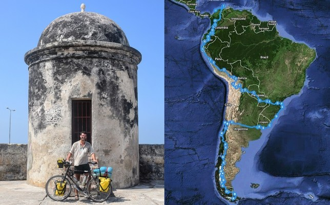 Map and final photo in colombia