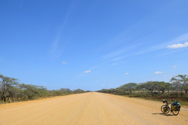 Dry road in Colombia