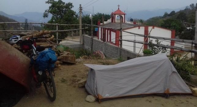 Tiny Mexican village, standard big church